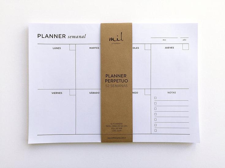 Planner Net Semanal A4 Perpetuo