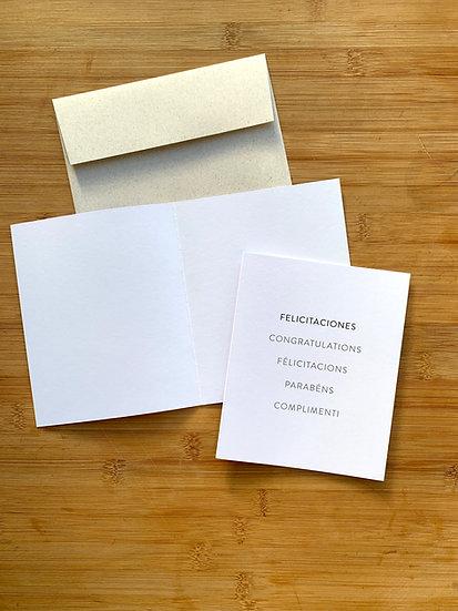 Tarjeta De Saludo Net DYI Felicitaciones - 5 Idiomas