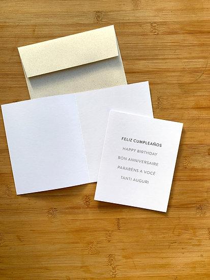 Tarjeta De Saludo Net DYI Feliz Cumpleaños - 5 Idiomas