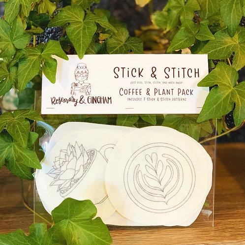 Coffee & Plant Stick & Stitch Pack