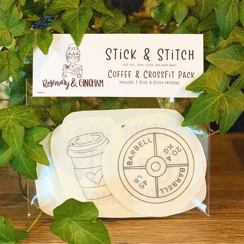 Coffee & CrossFit Stick & Stitch Pack