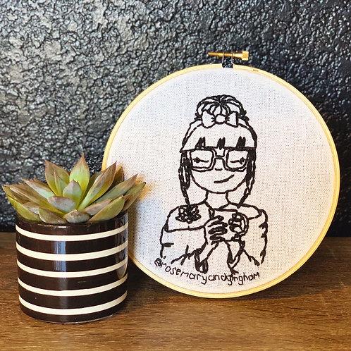 Custom Portrait Hand Embroidery