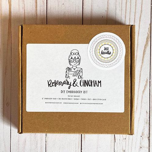 Just Breathe Mandala Sampler Embroidery Kit