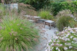 Terrasse au contact des plantes