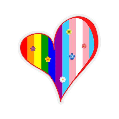Pride Curved Heart Sticker