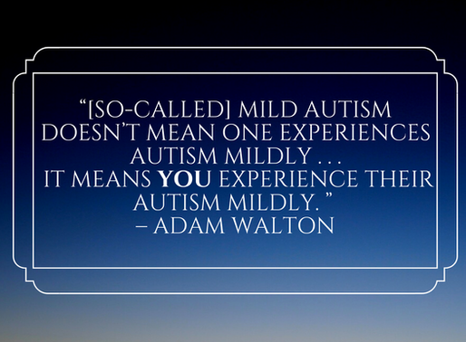 """""""MILD"""" AND """"HIGH-FUNCTIONING:"""" THE MISLEADING QUALIFIERS OF AUTISM"""