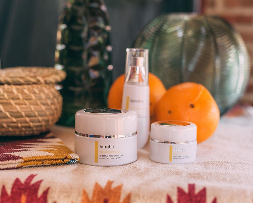 Gama BioAdvanced de Lanuba Cosmetics, con células madre de naranja