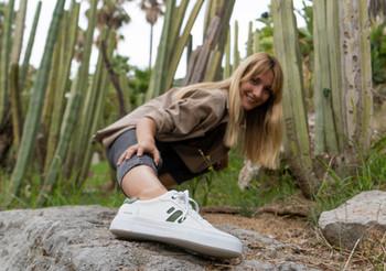 Sneakers ultraligeras de cuero de cactus