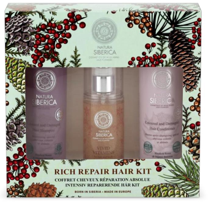 Pack Champú, Bálsamo y Vitaminas para el cabello y cuerpo de Natura Siberica