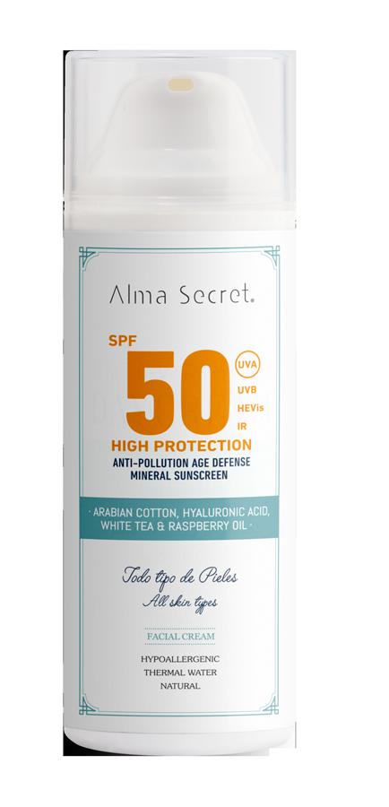 Protector Solar SPF50, de Alma Secret