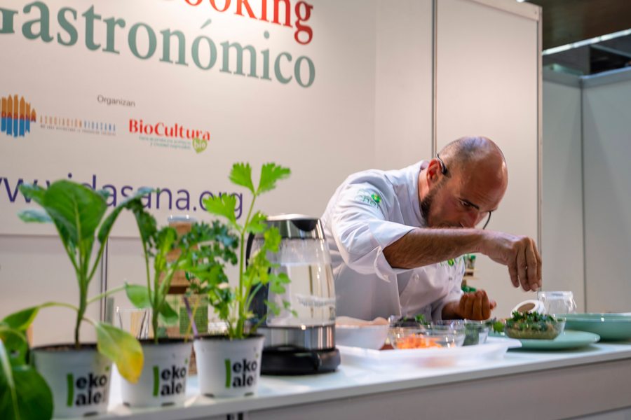 Showcooking en Biocultura Madrid 2019