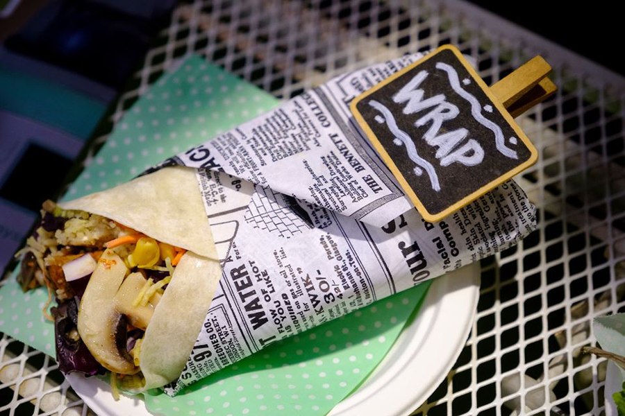 Burritos veganos en la feria VeggiWorld Barcelona 2018