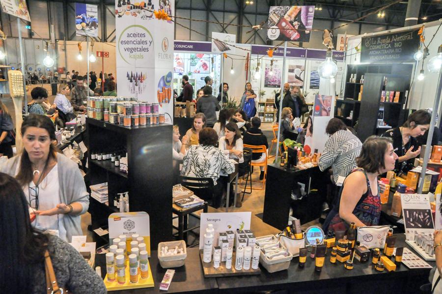 Puestos de cosmética natural y ecológica en Biocultura 2019