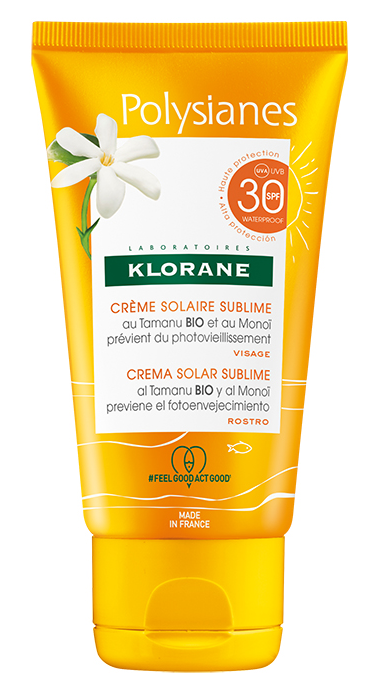 Polysianes Crema Solar Sublime Alta Protección SPF30, de Klorane