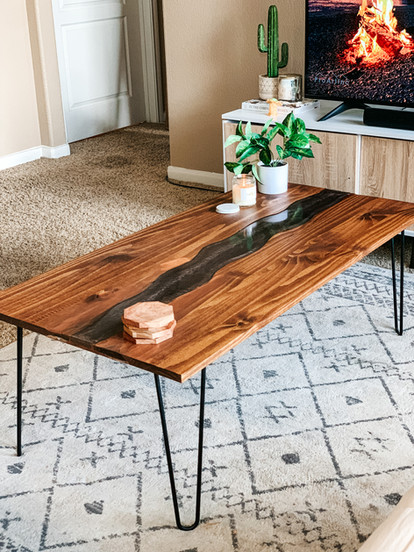 """""""Warm and Cozy"""" River table,  48""""x24"""" (2021)"""