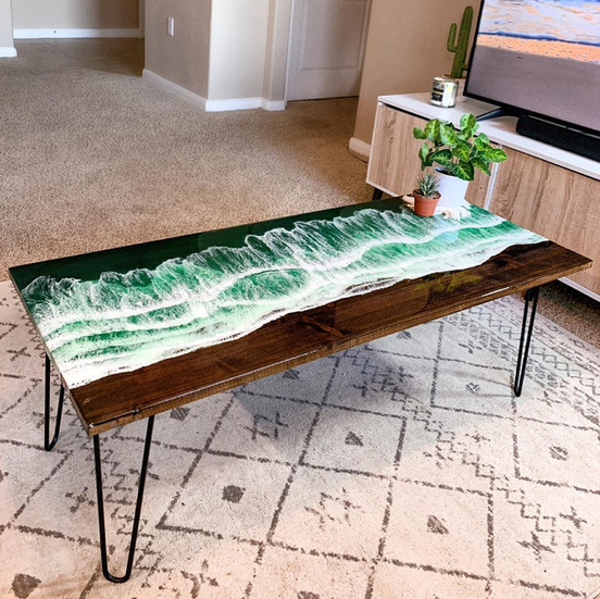 """Syreni"" Ocean Table. 48""x24"" (2021)"
