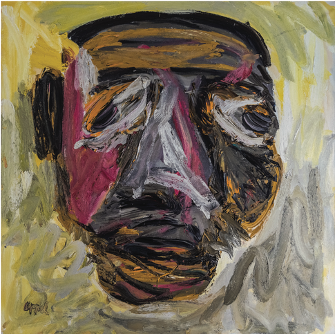 Karel Appel I Portrait of Jean-Paul Sartre, 2018