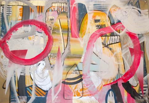 Eric Mangen I Nr.2 (pink circles), 2018