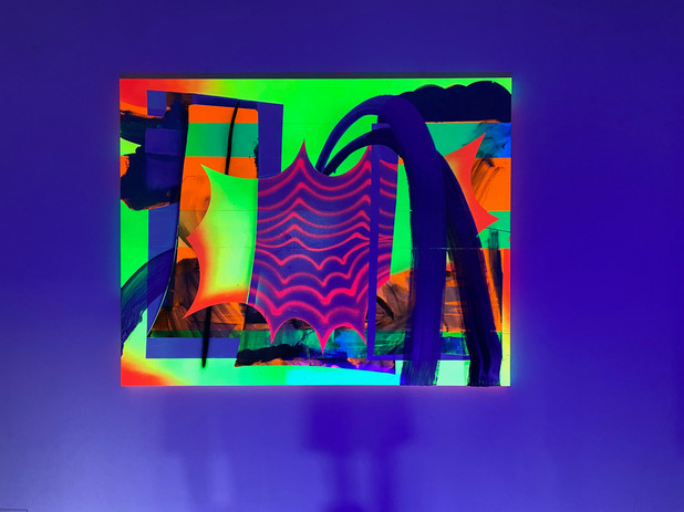 Exhibition view with Blacklight - NEON