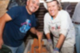 Volunteers installing ONIL stoves in Guatemala