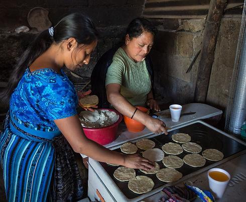 Women Making Tortillas on ONIL Stove