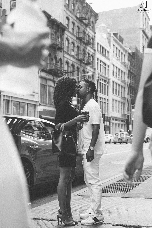 Kissing couple in Soho New York