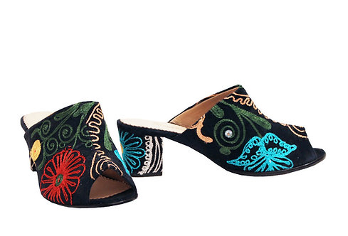One of a Kind Suzani - Mule Sandals