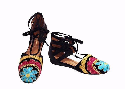 One of a Kind Suzani Leather - Espadrilles