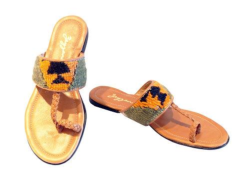 Kilim Tan Leather - Sandals