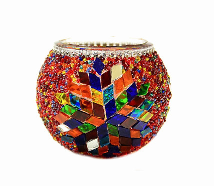 Turkish Glass Mosaic Candle Holder