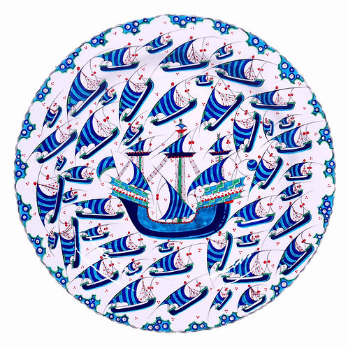 Hand-painted Iznik Turkish Pottery
