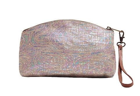 Rainbow Textile Clutch/Wristlet