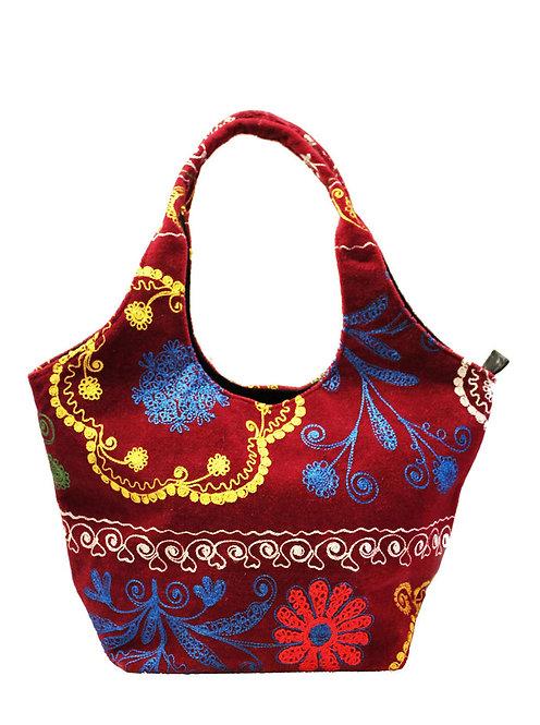 One of a kind Red Suzani Handbag