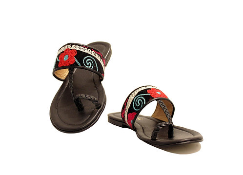 One of a Kind Suzani Leather - Sandals