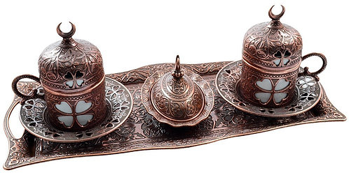 Turkish Coffee Set of 2 - Copper