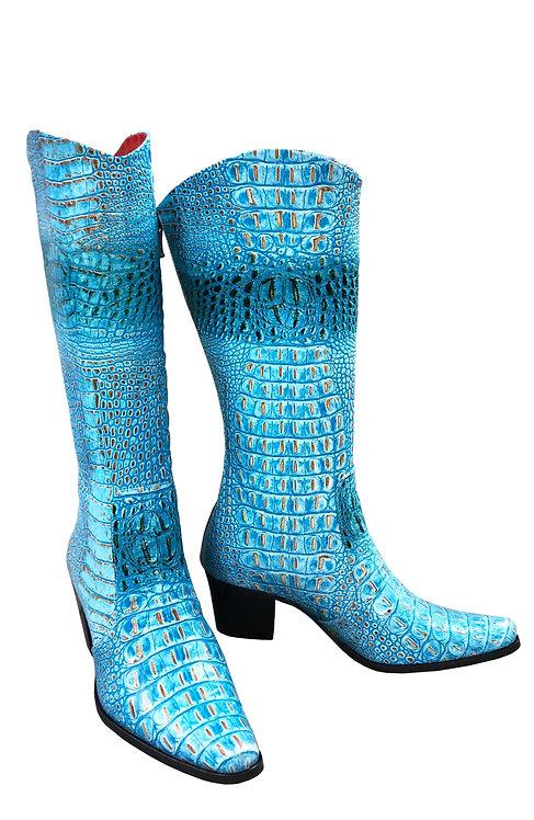 Turquoise Python Leather - Cowboys