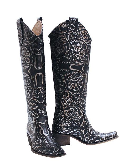Leather Midnight Jasmine - KH Cowboys