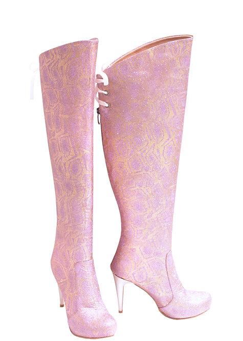 Pink Sparkle - OTK Stiletto