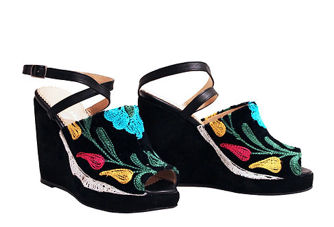 One of a Kind Suzani - Strap Wedge