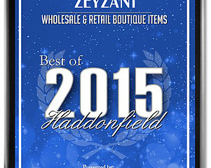 ZEYZANI was Awarded Best Wholesale & Retail Boutique Items, of 2015