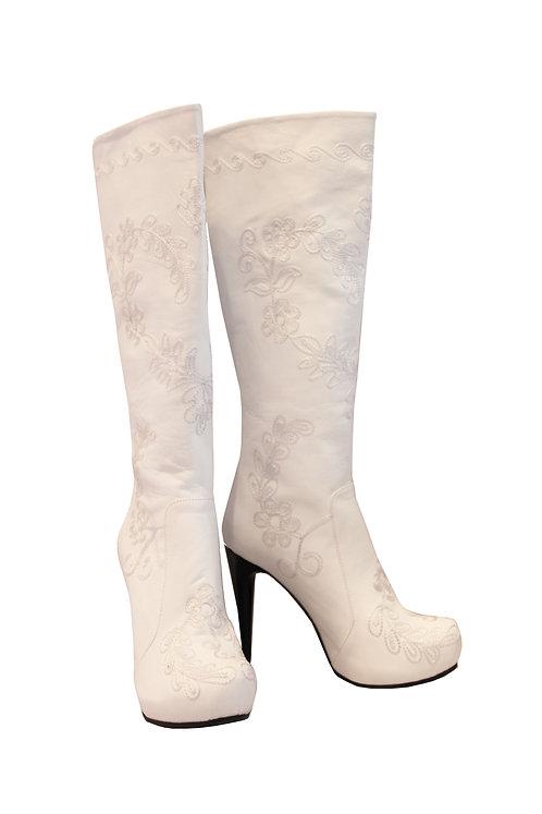 Off White Leather Love - Stiletto