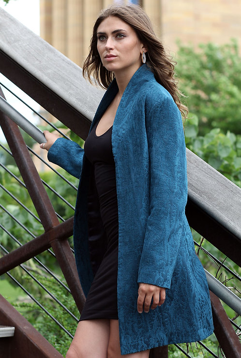 Kaftan Jacket - Turquoise