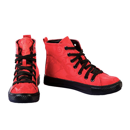 Damask Sneakers - Red