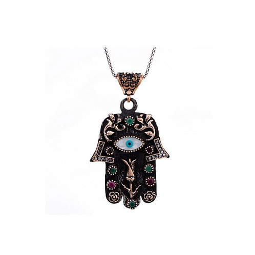 925 Sterling Silver Hamsa Necklace