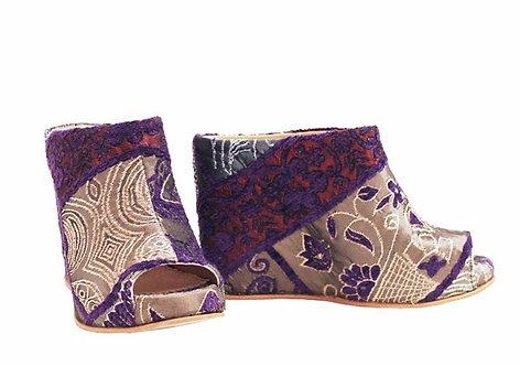 Purple Zari - Slip On Wedge