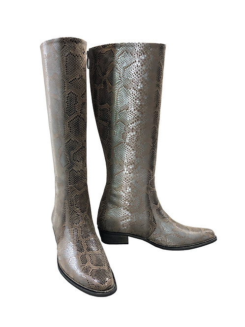 Leather Silver Python - Western Riding