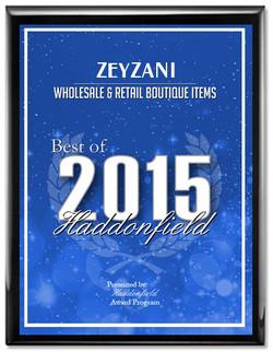 Zeyzani was awarded Best of 2015