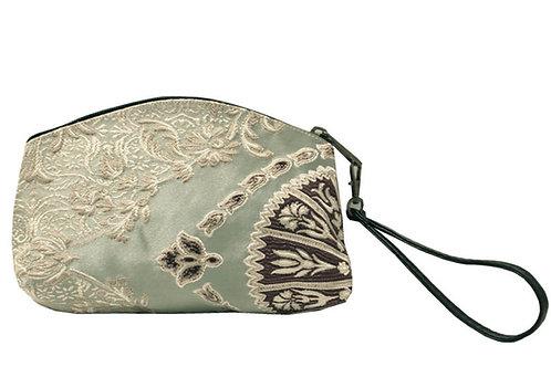 Mint Textile Clutch/Wristlet