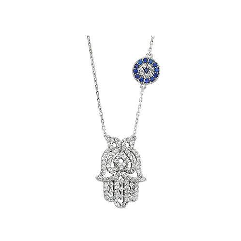 925 Sterling Silver Hamsa Necklace