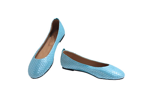 Blue Fish Leather - Babette